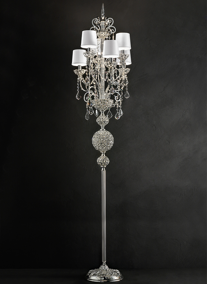 Metal frame with embedded crystals. Crystal pendants