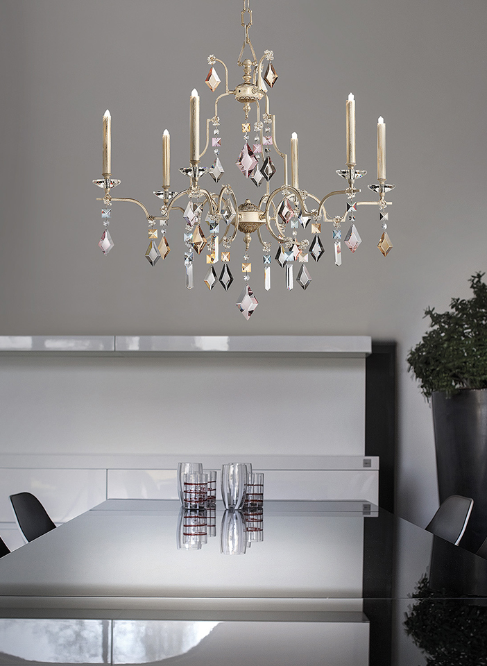 Metal frame with coloured crystal pendants|Metal frame with coloured crystal pendants|Metal frame with coloured crystal pendants|Metal frame with coloured crystal pendants