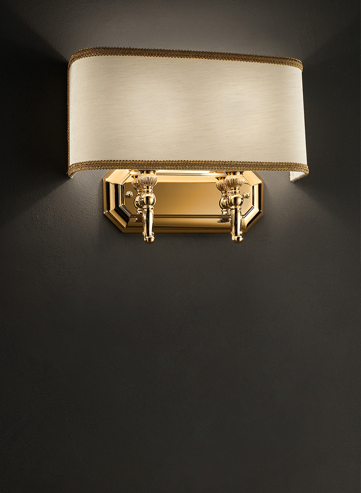 Gold plated solid brass base