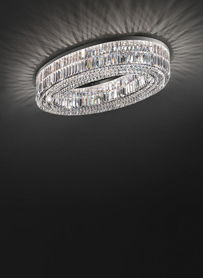 Metal frame. Crystal pendants